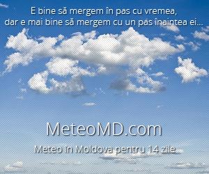 Meteo în Moldova - vremea pe 10 zile înainte